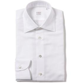 Borriello / コットンリネン セミワイドカラーシャツ メンズ ドレスシャツ WHITE/1 37
