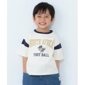 BEAMS mini / フットボールTシャツ (90~150㎝) キッズ Tシャツ OFF WHT 100
