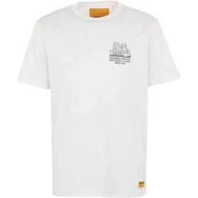 《期間限定セール開催中!》CATERPILLAR メンズ T シャツ ホワイト M コットン 100% CAT TRACTOR