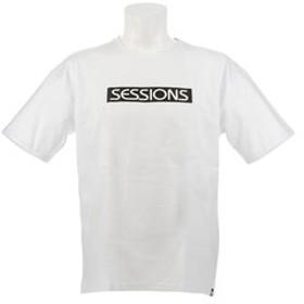 【Super Sports XEBIO & mall店:トップス】ROUND HEM LOGO 半袖Tシャツ 197060 WHT/BLK