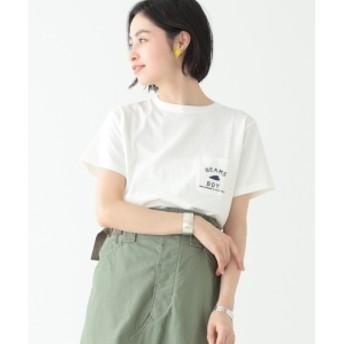 BEAMS BOY 【WEB限定】BEAMS BOY / BBロゴ ポケット付 ショートスリーブ Tシャツ レディース Tシャツ WHITE ONE SIZE