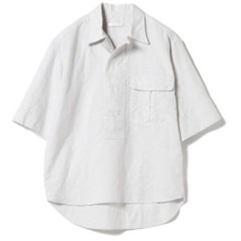 BAGUTTA / コットンリネン 3/4スリーブシャツ レディース カジュアルシャツ LT. GREY 38