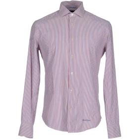 《期間限定セール開催中!》HENRY COTTON'S メンズ シャツ レッド 43 コットン 97% / ナイロン 2% / ポリウレタン 1%