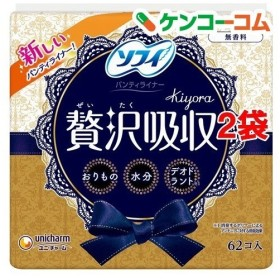 ソフィ Kiyora 贅沢吸収 無香料 ( 62枚入2コセット )/ ソフィ