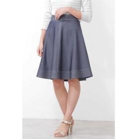 PROPORTION BODY DRESSING / プロポーションボディドレッシング  バイカラーステッチフレアースカート