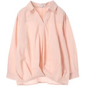 【5,000円以上お買物で送料無料】womens タック入りスキッパーシャツ