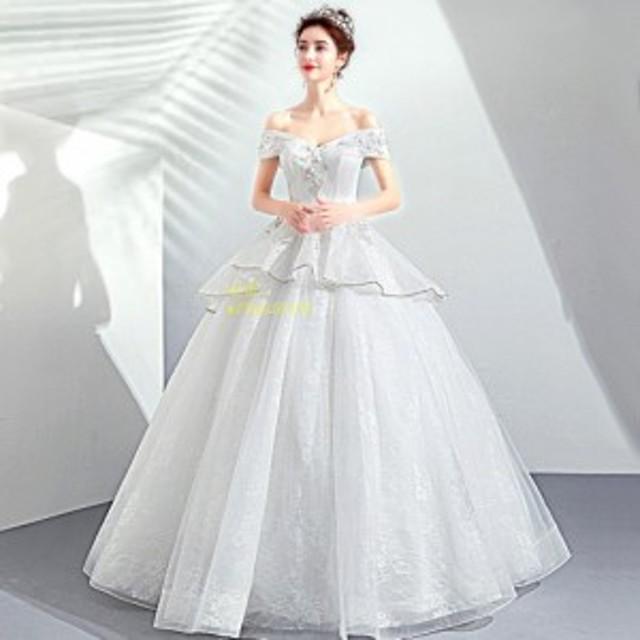 8d2036dd9ae27 ウエディングドレス 安い ロングドレス 二次会 ウェディングドレス 結婚式 プリンセスライン エンパイア 花嫁ドレス 披露宴