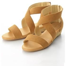 クロスデザインウェッジサンダル(低反発中敷)(選べるワイズ) サンダル, Sandals, 凉鞋, 涼鞋