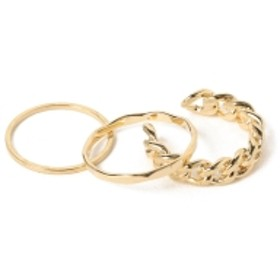 B:MING by BEAMS / 3連セットリング レディース リング GOLD ONE SIZE