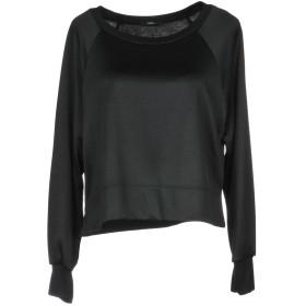 《送料無料》CARLA G. レディース スウェットシャツ ブラック 40 レーヨン 51% / ポリエステル 49%