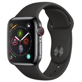 AppleApple Watch Series 4(GPS + Cellularモデル)- 40mmスペースブラックステンレススチールケースとブラックスポーツバンドMTVL2J/A