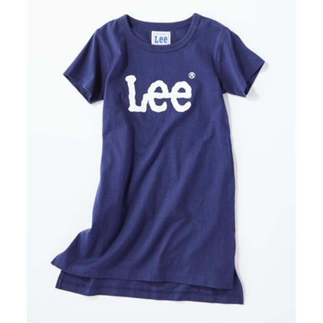 Lee チュニックTシャツ キッズ ネイビー