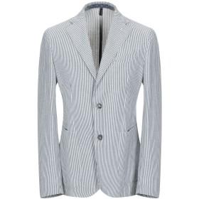 《期間限定セール開催中!》EDDY & BROS メンズ テーラードジャケット ブルーグレー 46 コットン 75% / 麻 25%