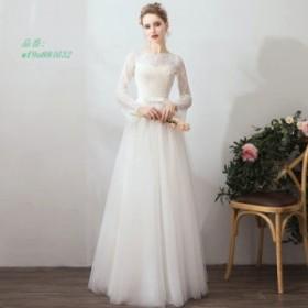 521b0e578e3ec ウエディングドレス aライン 白 レース ボレル 安い ウェディングドレス 花嫁 結婚式 パーティードレス 二次会