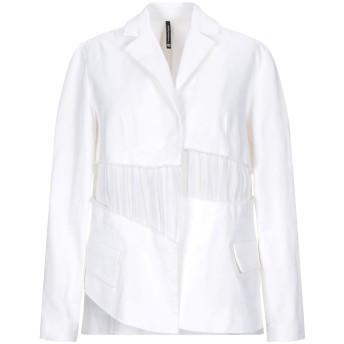 《9/20まで! 限定セール開催中》PIERANTONIO GASPARI レディース テーラードジャケット ホワイト 42 コットン 97% / ポリウレタン 3%