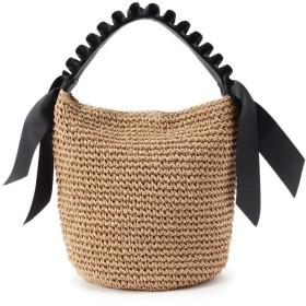 Couture Brooch クチュール ブローチ フリルハンドルワンショルダー編みバッグ