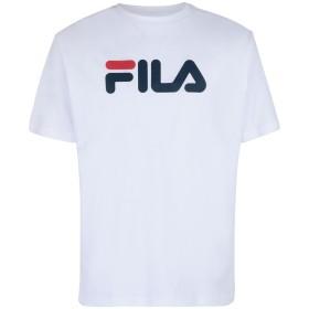 《9/20まで! 限定セール開催中》FILA HERITAGE メンズ T シャツ ホワイト L コットン 100% CLASSIC PURE ss tee