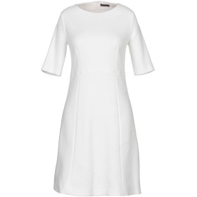 《期間限定セール開催中!》PESERICO レディース ミニワンピース&ドレス ホワイト 44 コットン 90% / ナイロン 9% / ポリウレタン 1%