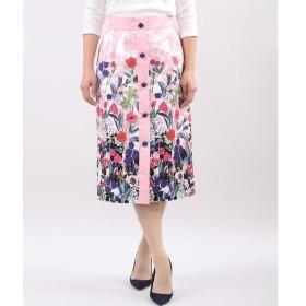 ef-de / エフデ 《Maglie collection》フロントボタンフラワープリントスカート