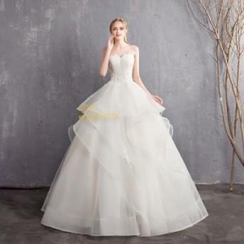 マタニティ ウェディングドレス エンパイア 花嫁 安い 白 シンプル 結婚式 ロングドレス 披露宴 二次会 パーティードレス 大きいサイズ