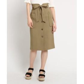 AG by aquagirl / エージー バイ アクアガール 【洗える】【Lサイズあり】【steady.5月号掲載】リボンベルト付フロントボタンスカート