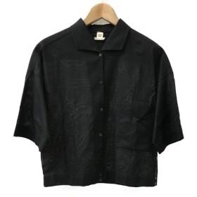 美品 エルメス H刺繍 シャツ レディース SIZE 36 (S) HERMES 中古
