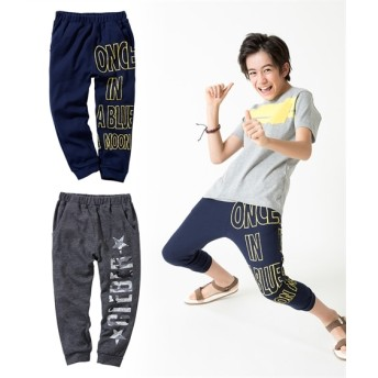 ロゴ柄7分丈パンツ2枚組(男の子 子供服。ジュニア服) パンツ