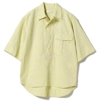 BAGUTTA / コットンリネン 3/4スリーブシャツ レディース カジュアルシャツ YELLOW 38