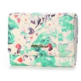 アンシェリ ancheri 二つ折りファスナー付き財布 (グリーン)