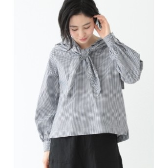 BEAMS BOY / セーラースカーフ 7分袖 シャツ レディース カジュアルシャツ NAVY ONE SIZE