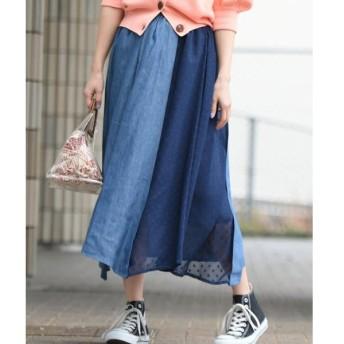 MAYSON GREY / メイソングレイ 【socolla】DENIM×ドットイレギュラーヘムスカート
