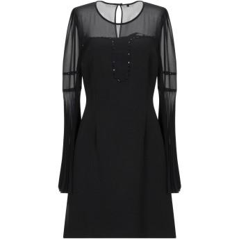 《セール開催中》ANNARITA N レディース ミニワンピース&ドレス ブラック 40 ポリエステル 100% / ポリウレタン