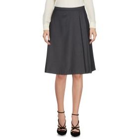 《セール開催中》JIJIL レディース ひざ丈スカート 鉛色 40 ポリエステル 67% / レーヨン 31% / ポリウレタン 2%