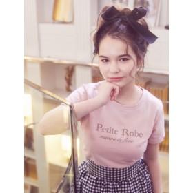 【5,000円以上お買物で送料無料】PetiteRobeロゴTシャツ