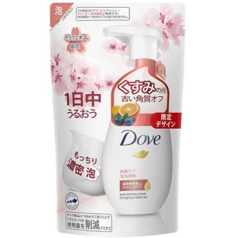 ダヴ(Dove) クリアリニュー クリーミー泡洗顔料 詰替用 サクラデザイン 140mL ユニリーバ