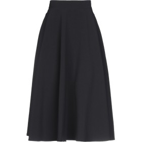 《期間限定セール中》SUOLI レディース 7分丈スカート ブラック 44 92% ポリエステル 8% ポリウレタン