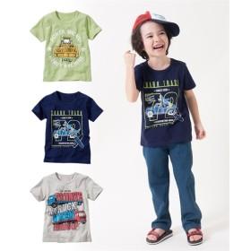 綿100%フロントプリント半袖Tシャツ3枚組(男の子 子供服) Tシャツ・カットソー