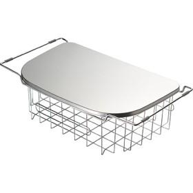 【正規品】調理スペースが広がるトレー&水切りシンク内でも天板の上でも使える深型水切りカゴ<Shop Japan(ショップジャパン)公式>