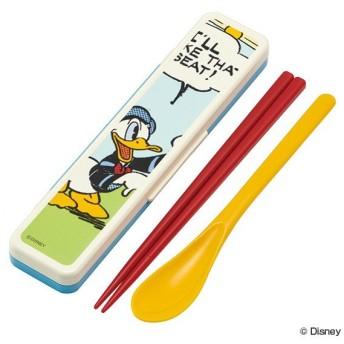 コンビセット 箸 スプーン セット ドナルドダック ドナルド ディズニー 音の鳴らないクッション付 18cm ( 食洗機対応 お箸 日本製 )