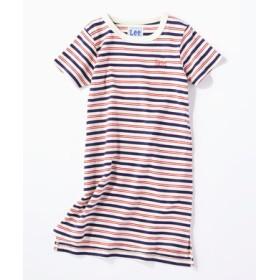 Lee チュニックTシャツ キッズ ホワイト*レッド