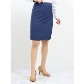【TAKA-Q:スカート】マルゾット/MARZOTTO セットアップタイトスカート ストライプ青