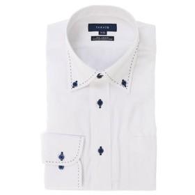 【SALE/送料無料】【TAKA-Q:トップス】形態安定レギュラーフィットドゥエボットーニボタンダウン長袖ビジネスドレスシャツ