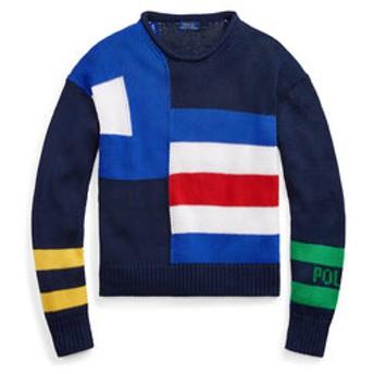 【POLO RALPH LAUREN:トップス】セールボートフラッグ コットン セーター