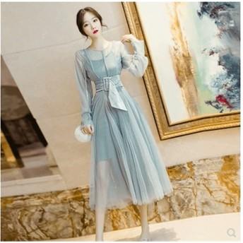 [55555SHOP] 花嫁 韓国ファッションワンピース/結婚式/二次会ドレス/誕生日会服/演奏会/入学式/卒業式/披露宴服/ブライズメイド服