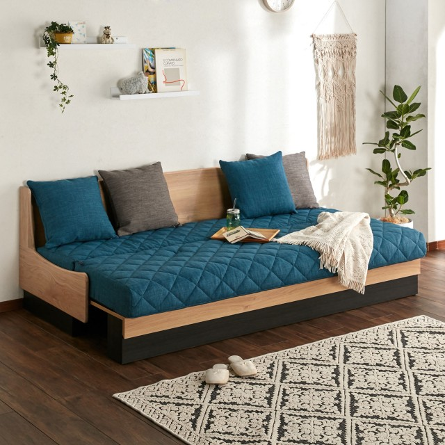 簡単に本格ベッドになるソファーベッド