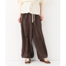 EMILY WEEK BASERANGE Amir Pants-Silk Voile ブラウン S