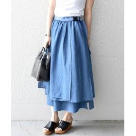 【40%OFF】 シップス Khaju:ギャザーラップスカート レディース ブルー ONESIZE 【SHIPS】 【セール開催中】