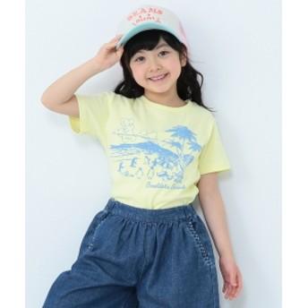 【予約】BEAMS mini / ペンギンビーチTシャツ(90~150㎝) キッズ Tシャツ LEMON 120