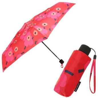 マリメッコ 傘 MARIMEKKO レディース 038653 301 MINI-UNIKKO MINI MANUAL UMBRELLA 折りたたみ傘 RED/DARK RED 夏フェス 海 ビーチ