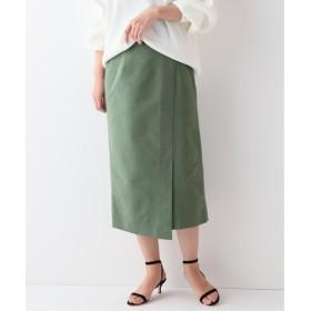 FRAMeWORK ラップタイトスカート◆ カーキ 36